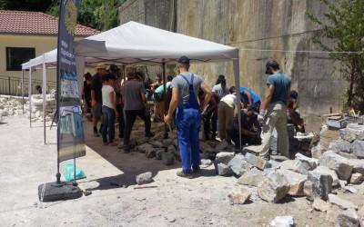 Στόχος του 2ου Εργαστηρίου (29 Ιουλίου - 5 Αυγούστου) η λειτουργία της Σχολής μαθητείας της τέχνης της πέτρας