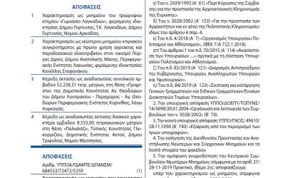 Δημοσιεύτηκε το ΦΕΚ με την υπουργική απόφαση για την ανακήρυξη του Γυμνασίου Λαγκαδίων ως προστατευόμενου και διατηρητέου μνημείου